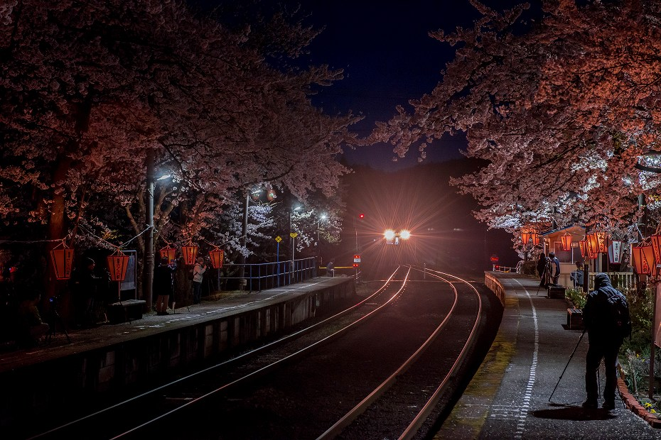 2018.04.08 能登さくら駅 夜景 1