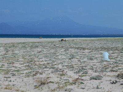 4.3弓ケ浜から大山を臨む