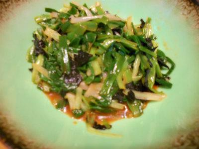 4.4分葱と海苔のナムル