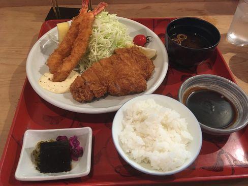 西陣大江戸・デラックスA定食_H29.11.04撮影