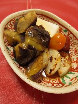 20180912 茄子と山芋と豆腐