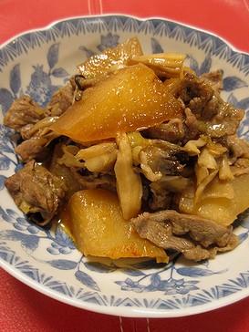 20180921 牛肉と大根の韓国風煮物