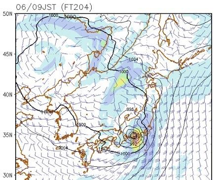 20180829台風21号予想図(9月6日)