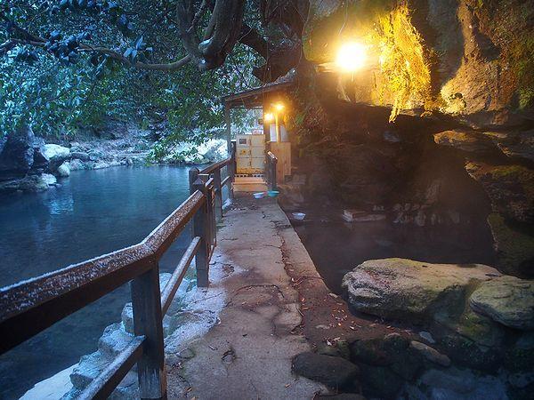 天然洞窟風呂@旅館福元屋