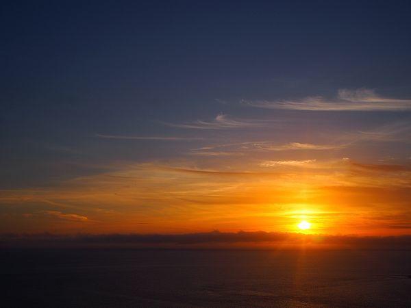 ウェザーステーションからの夕日