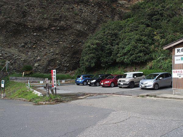 石見畳ヶ浦の有料駐車場
