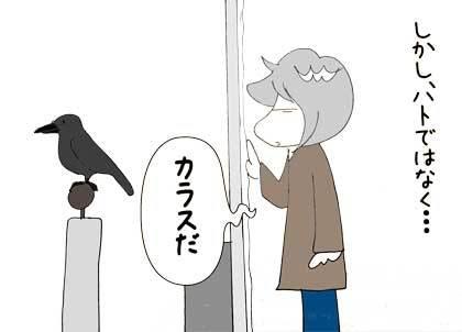 鳩じゃなく4