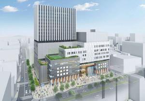 再開発ビルのイメージ図