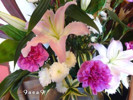 先日感動したブログの影響を受けて床の間の生け花写真を撮ってみた2