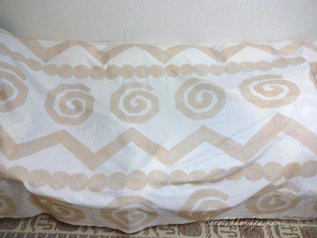 自分で描いた 北欧風のカーテン柄 2