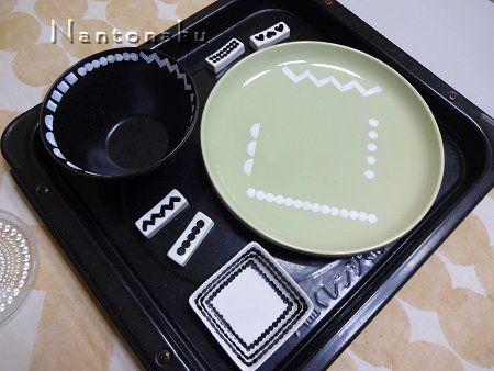 NANTONAKU 6-14 ダイソーとセリアの食器にお絵かき 1