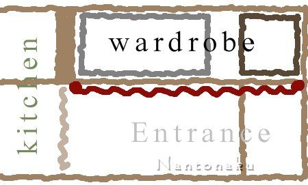 NANTONAKU タンスはないけど 玄関ワードローブは作った 3