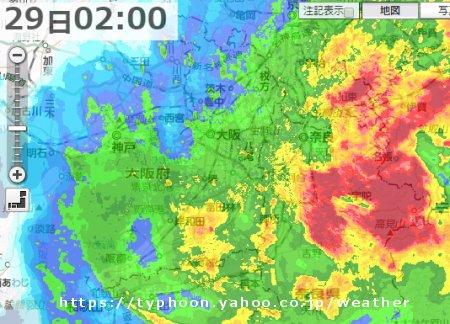 台風 雨雲レーダー