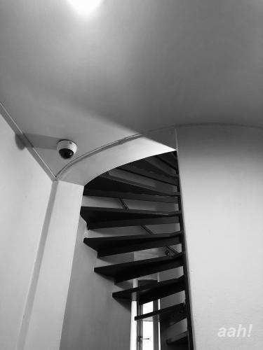 螺旋階段で5階へ・・。