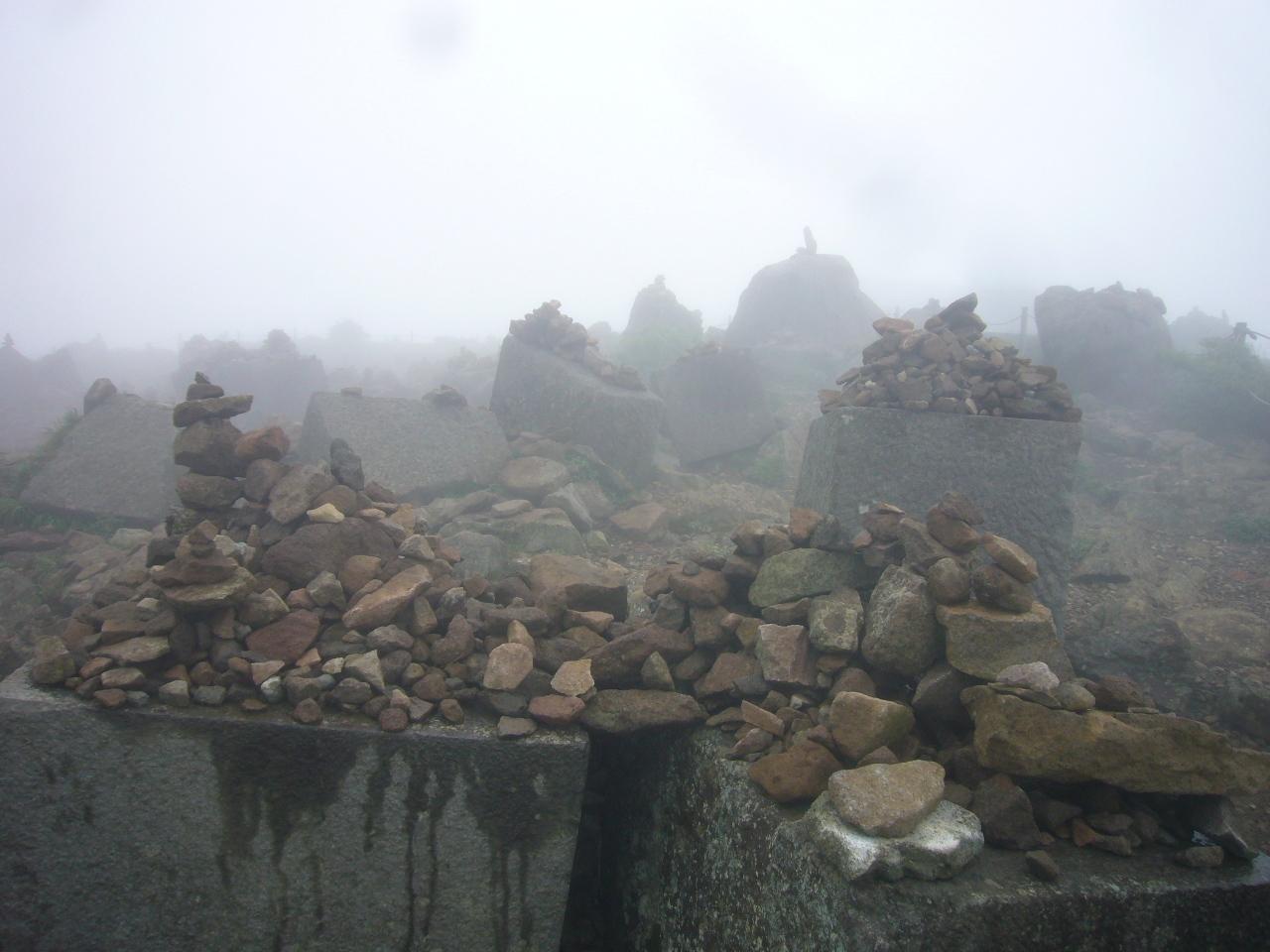 駒ヶ岳頂上付近の霊場 H30.6.16