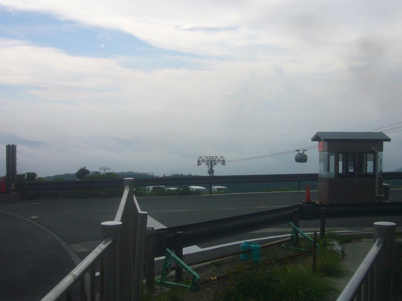 大涌谷から幻の富士 H30.7.16