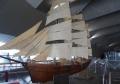 模型帆船「北光丸」の展示