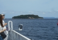 船より見る猿島