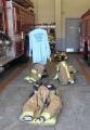 干された消防服