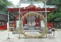 拝殿前の茅の輪