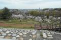 多摩湖の堤体から見る所沢市街地