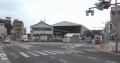 浦賀駅前の三叉路から見る景色