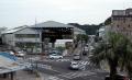 駅から見る三叉路