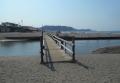 由比ヶ浜から見る材木座海岸