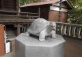 拝殿前の亀②