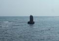海中に建つ「不如帰」の石碑