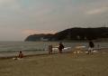 夕暮れの逗子海岸②
