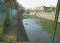 底に水が貯まった調整池