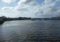 夕照橋から見る平潟湾の奥