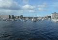 湾内には多くの船が