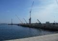 工事中の新港埠頭9号岩壁