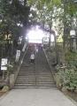 石段を上ると仙波東照宮