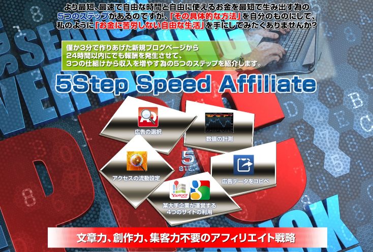 PPCアフィリエイトで稼ぐ方法 5step speed affiliete