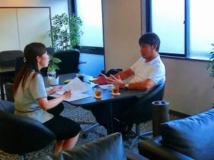 樋口社長にインタビューさせて頂いた時のお写真です♪