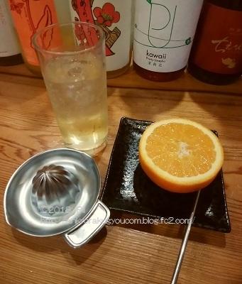 生搾りオレンジ梅酒 2018-7-28 (1)