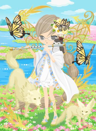 蝶の妖精ベツィー試着