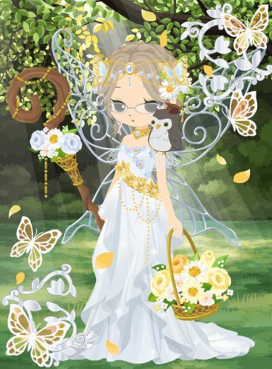 蝶の妖精カティア試着