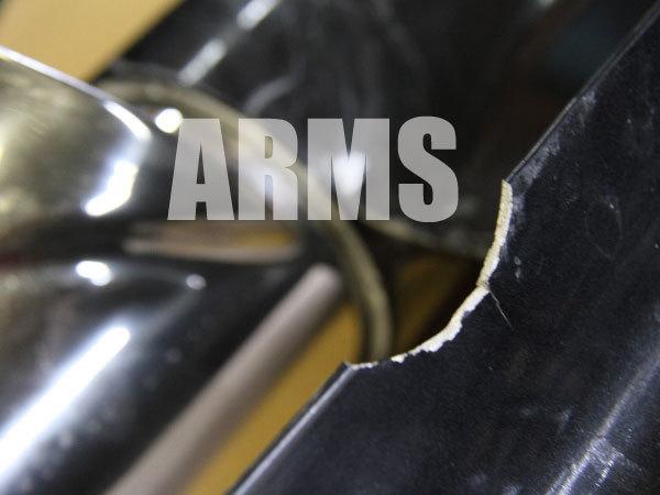 キャビテーションプレートの修理 アルミ溶接