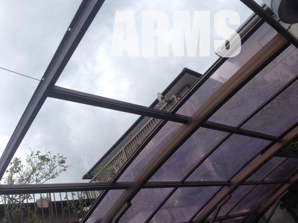 カーポートの屋根を修理