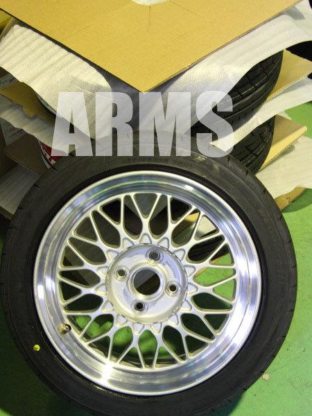 タイヤを組み込んだBBSホイール