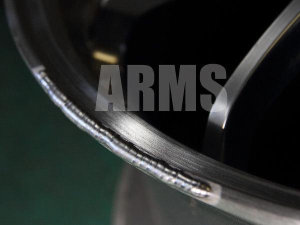 鍛造ホイールのアルミ溶接