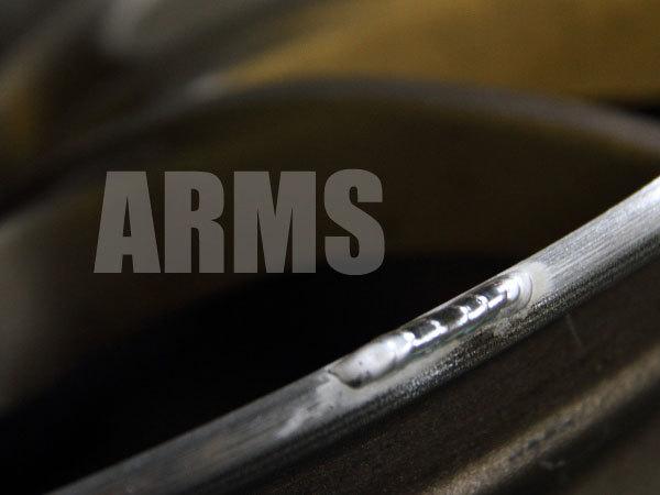 アルミ溶接で無限ホイールを修理