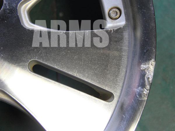 シルバーポリッシュホイールのガリ傷を修理