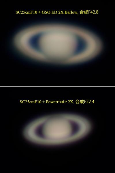 Saturn拡大光学系による比較