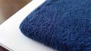 トイレのタオルを青いふわふわの物に変えた (6)