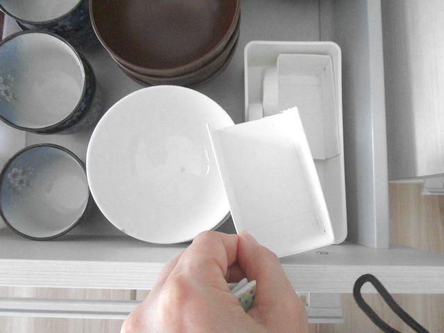 食器棚引き出し 収納 空き箱でテスト (6)